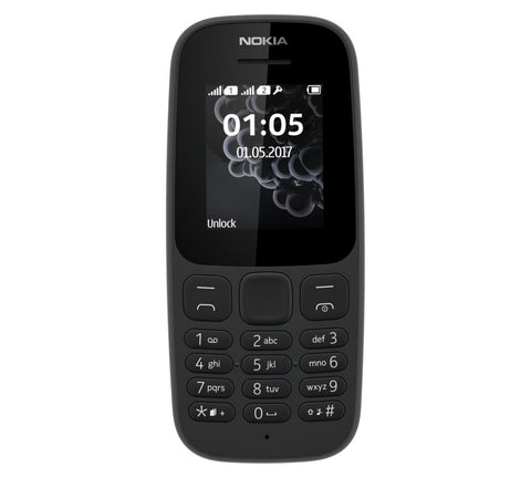 Sim Free Nokia 105 2017 Mobile Phone - Blue