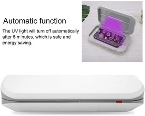 UV Cell Phone Sanitizer / Sterilizer Box w/ Dual LED for Keys, Glasses, Rings