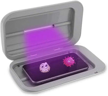 將圖片載入圖庫檢視器 UV Cell Phone Sanitizer / Sterilizer Box w/ Dual LED for Keys, Glasses, Rings