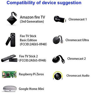 Micro USB to Ethernet Adapter for Amazon Fire TV Stick 2nd Gen., Black