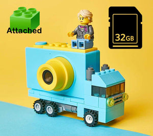 Toy Truck Shaped Lego Compatible 1080P FHD Digital Camera for Kids