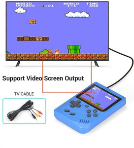 Handheld 2-Player Retro Video Game Console w/ 500 Classic Games, Blue
