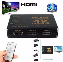 Load image into Gallery viewer, Intelligent 4K 5-Port HDMI Switch Splitter & HDTV Hub w/ IR Remote