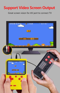 Handheld 2-Player Retro Video Game Console w/ 500 Classic Games, Red