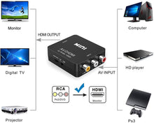 Load image into Gallery viewer, Mini RCA Composite CVBS AV to HDMI Video Audio Converter Adapter