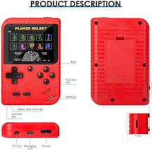 Load image into Gallery viewer, Handheld 2-Player Retro Video Game Console w/ 500 Classic Games, Red