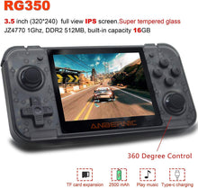 Load image into Gallery viewer, Handheld Dual-Core Video Game Console w/ 2500+ Classic Games, Black