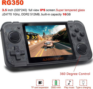 Handheld Dual-Core Video Game Console w/ 2500+ Classic Games, Black