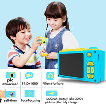 Load image into Gallery viewer, Toy Truck Shaped Lego Compatible 1080P FHD Digital Camera for Kids