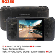 將圖片載入圖庫檢視器 Handheld Dual-Core Video Game Console w/ 2500+ Classic Games, Black