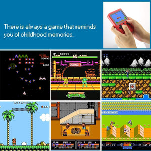 Handheld 2-Player Retro Video Game Console w/ 500 Classic Games, Black