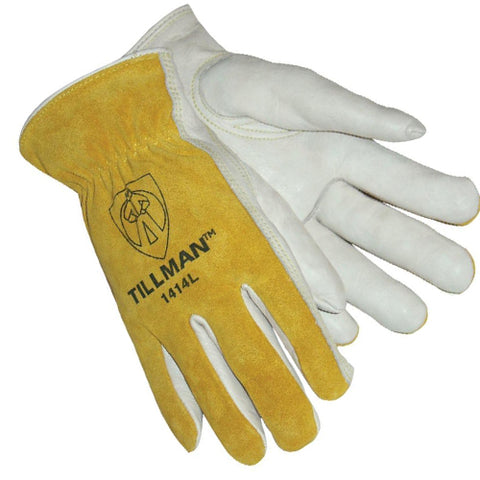 Tillman 1414 Tan Cowhide Welding Glove