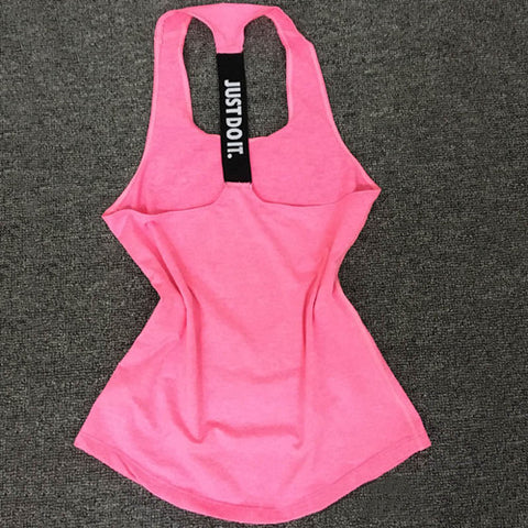 Just Do It Women Sports Shirt For Sleeveless Yoga Top - Pink / S - Womens