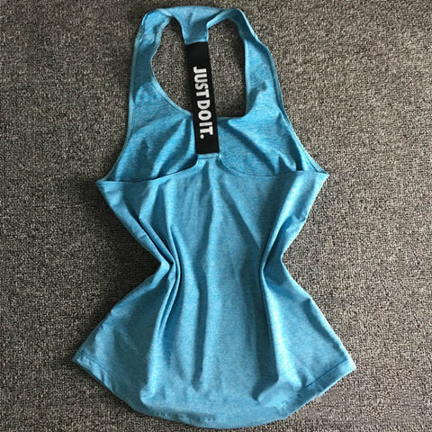Just Do It Women Sports Shirt For Sleeveless Yoga Top - Blue / S - Womens