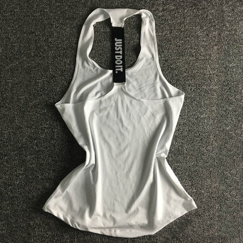 Just Do It Women Sports Shirt For Sleeveless Yoga Top - White / S - Womens