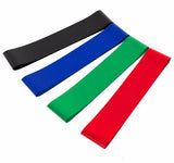 4pcs/set 50cm Elastic Tension Resistance Bands 4 Levels Rubber Loops Yoga Bands