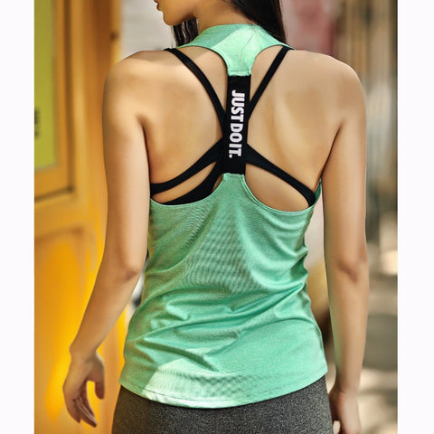 Just Do It Women Sports Shirt For Sleeveless Yoga Top - Womens