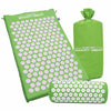 Image of Yoga Mat Acupressure And Pillow Set Back Body Massage Relieve Stress Tension Pain For - Green - Accessories