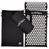 Image of Yoga Mat Acupressure And Pillow Set Back Body Massage Relieve Stress Tension Pain For - Black - Accessories