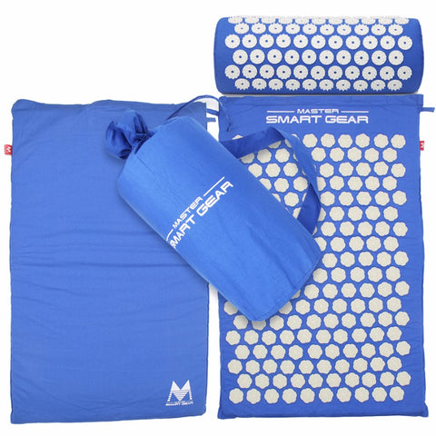 Yoga Mat Acupressure And Pillow Set Back Body Massage Relieve Stress Tension Pain For - Blue - Accessories