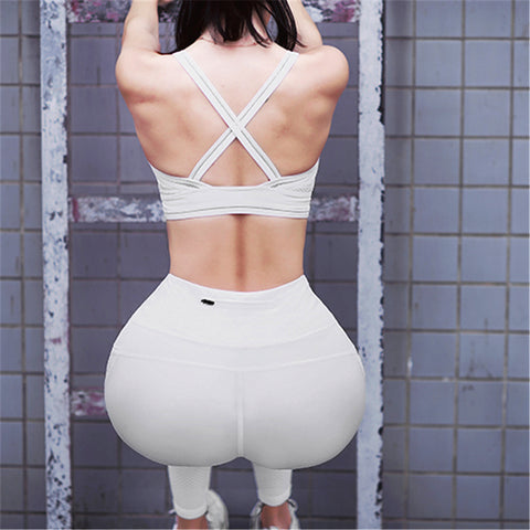 High Waist Yoga Pants With Pocket Mesh Panels Reflective