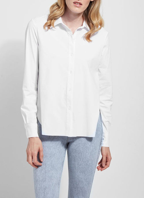 Connie Button Down, White