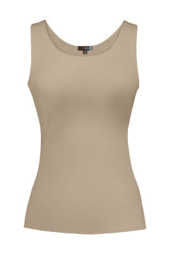 Judy P Round Neck Tank, NAT Natural