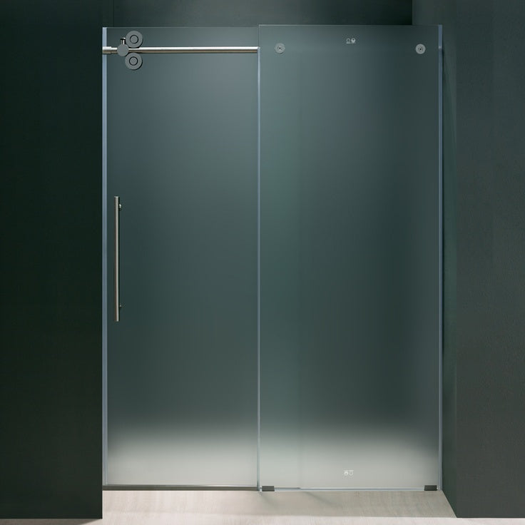 sliding frameless door