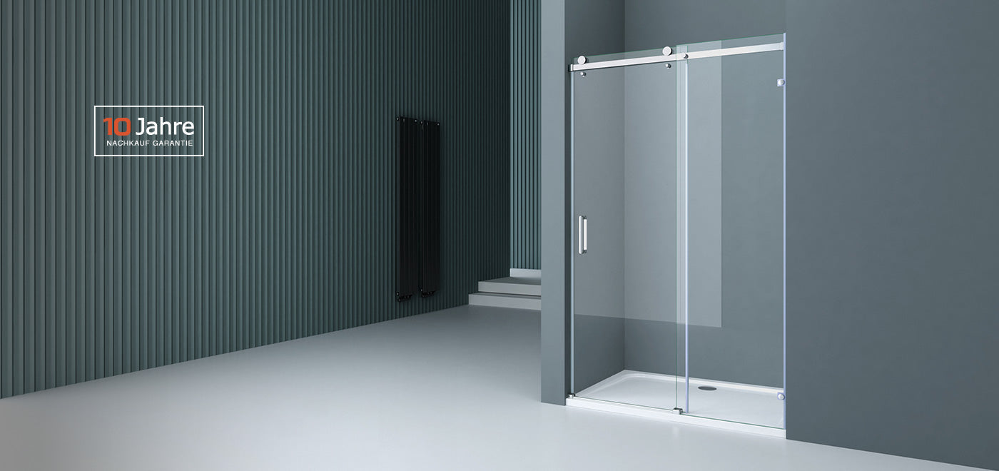 sliding shower door with hinges mount wall