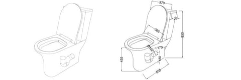 Compact Toilet specs sheet