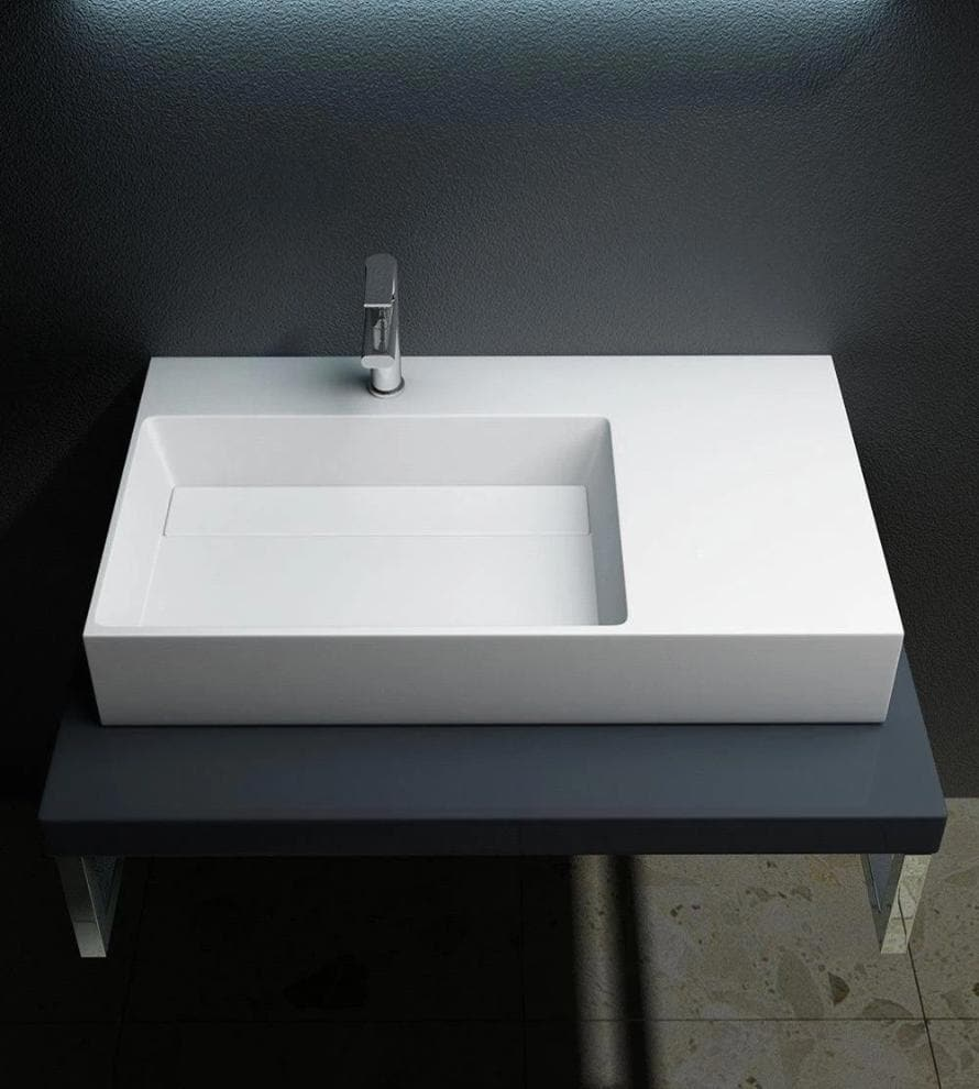 Basin 900mm Wall Hung Wash Basin with Shelf | C59 Bathroom Store Select