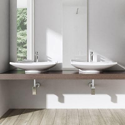 Basin Curved Square Ceramic Basin(M63) Bathroom Store Select