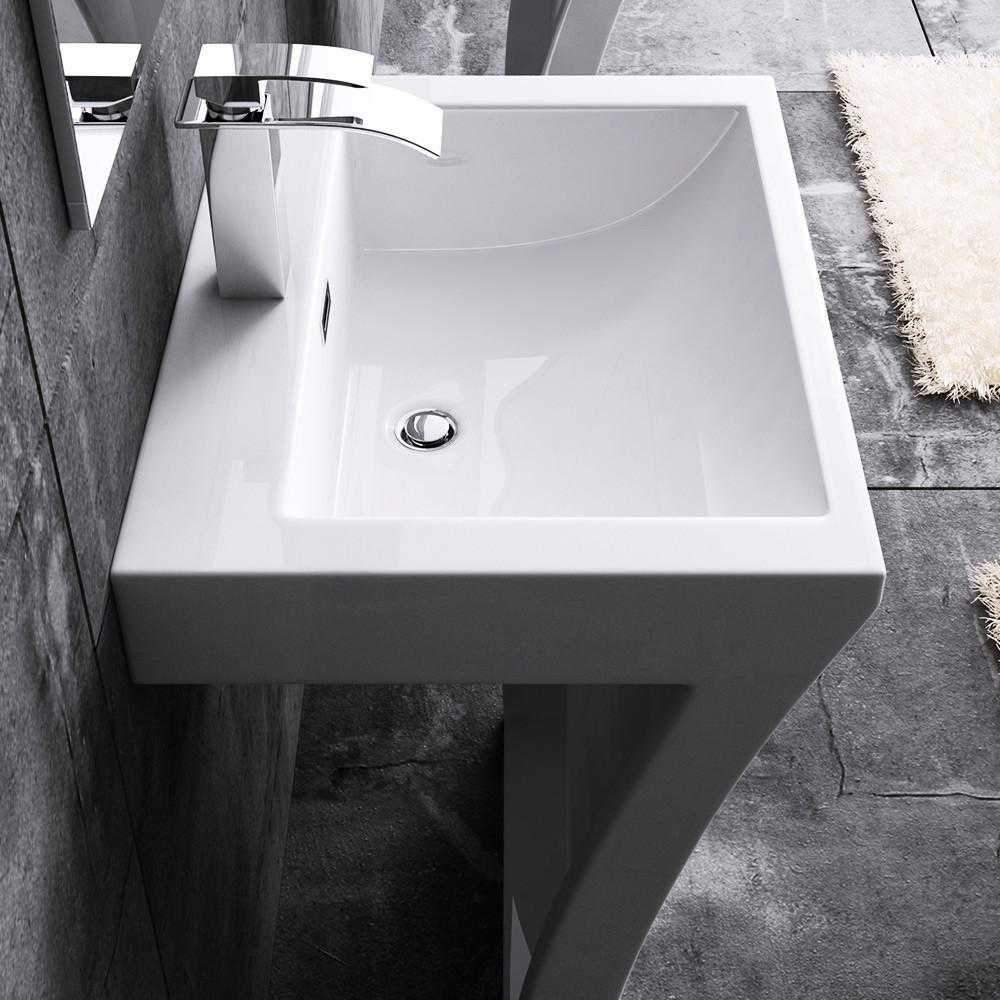 Basin Suzana Stone Pedestal Sink | K58 Bathroom Store Select
