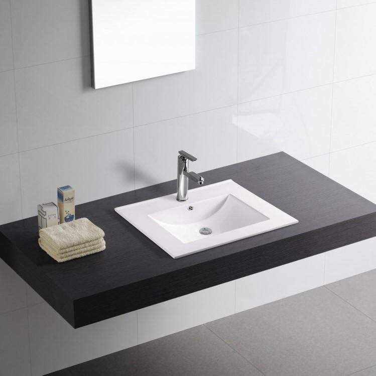 Basin Washbasin Recessed in the Countertop - Atena Bathroom Store