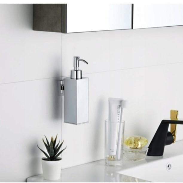 Bathroom Accessories Default Chrome Hanging Liquid Soap Dispenser Mexen