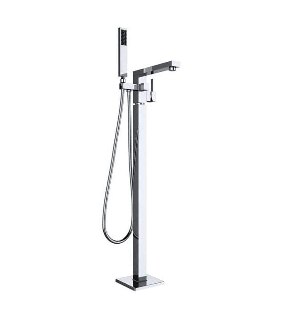 Freestanding Taps Cubic Freestanding Bath Mixer Tap - Chrome - SW30 DoMarket