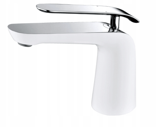 Taps Mexen White & Chrome Basin Tap | SQ323 Mexen