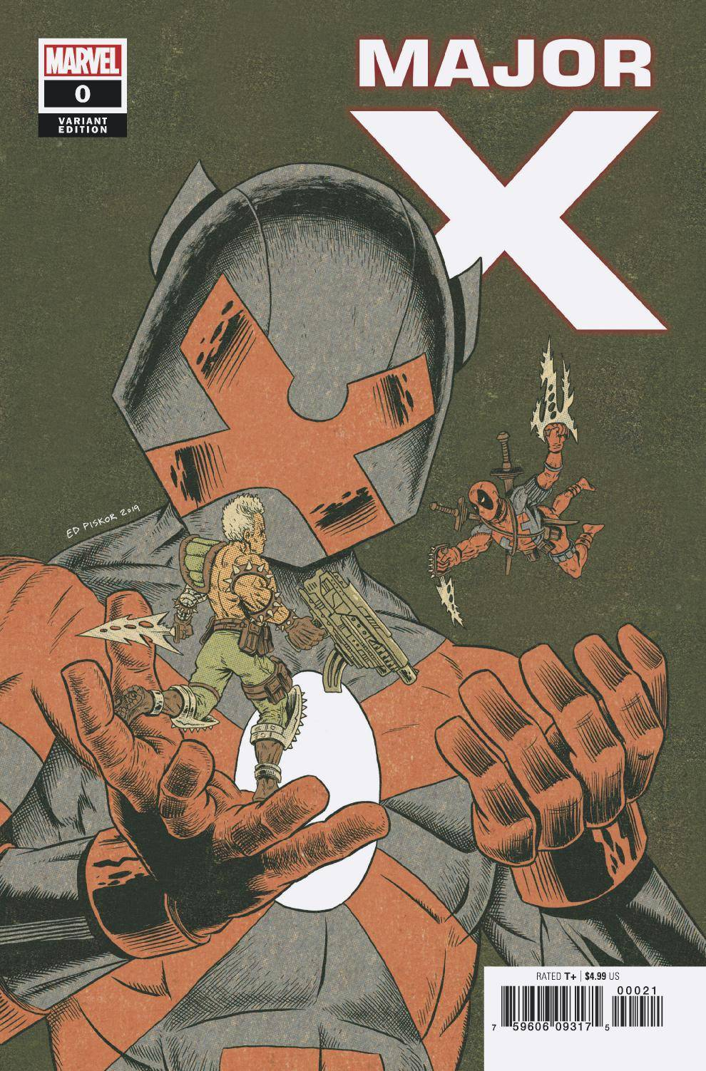 MAJOR X #0 PISKOR VARIANT 08/07/19 FOC 07/15/19