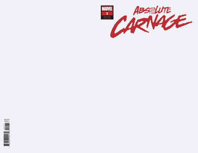 ABSOLUTE CARNAGE #1 (OF 4) BLANK VARIANT 08/07/19 FOC 07/15/19