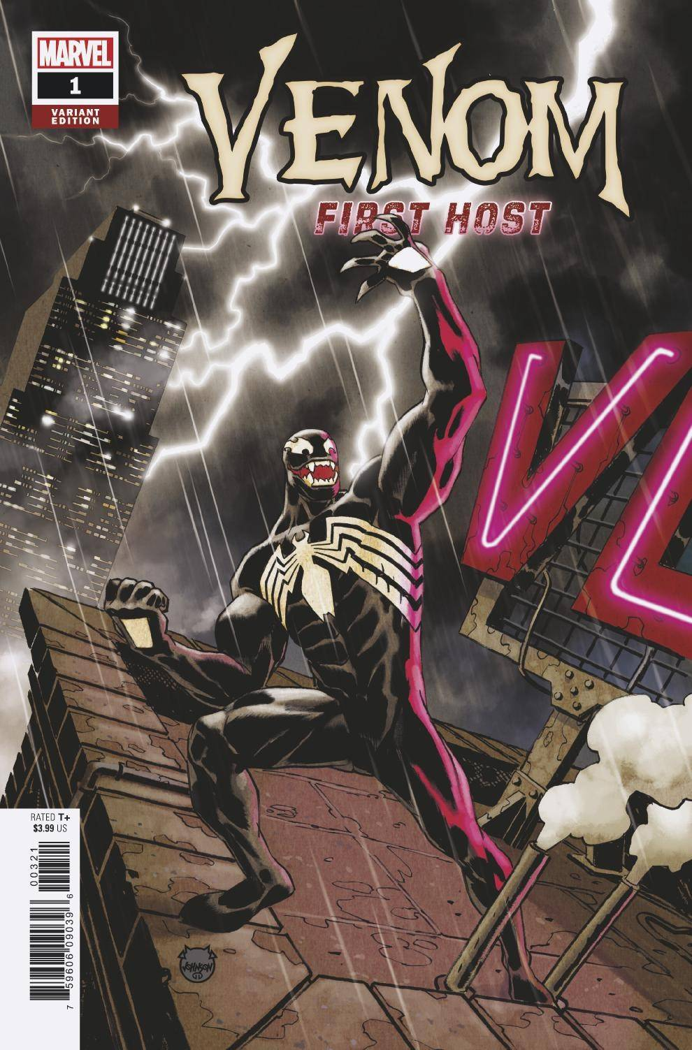 VENOM FIRST HOST #3 (OF 5) JOHNSON VARIANT FOC 08/20