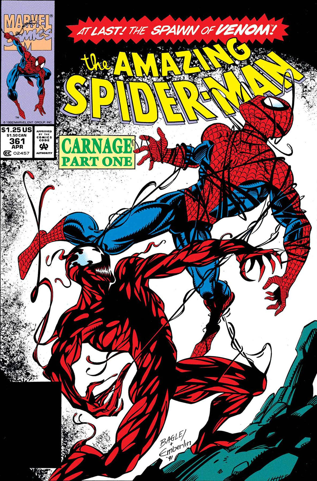 TRUE BELIEVERS ABSOLUTE CARNAGE CARNAGE #1 AMAZING SPIDER-MAN #361 REPRINT 07/10/19 FOC 06/17/19