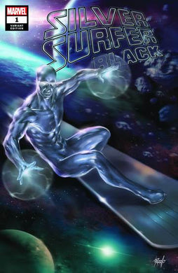 SILVER SURFER BLACK #1 (OF 5) LUCIO PARRILLO EXCLUSIVE VARIANT COVER