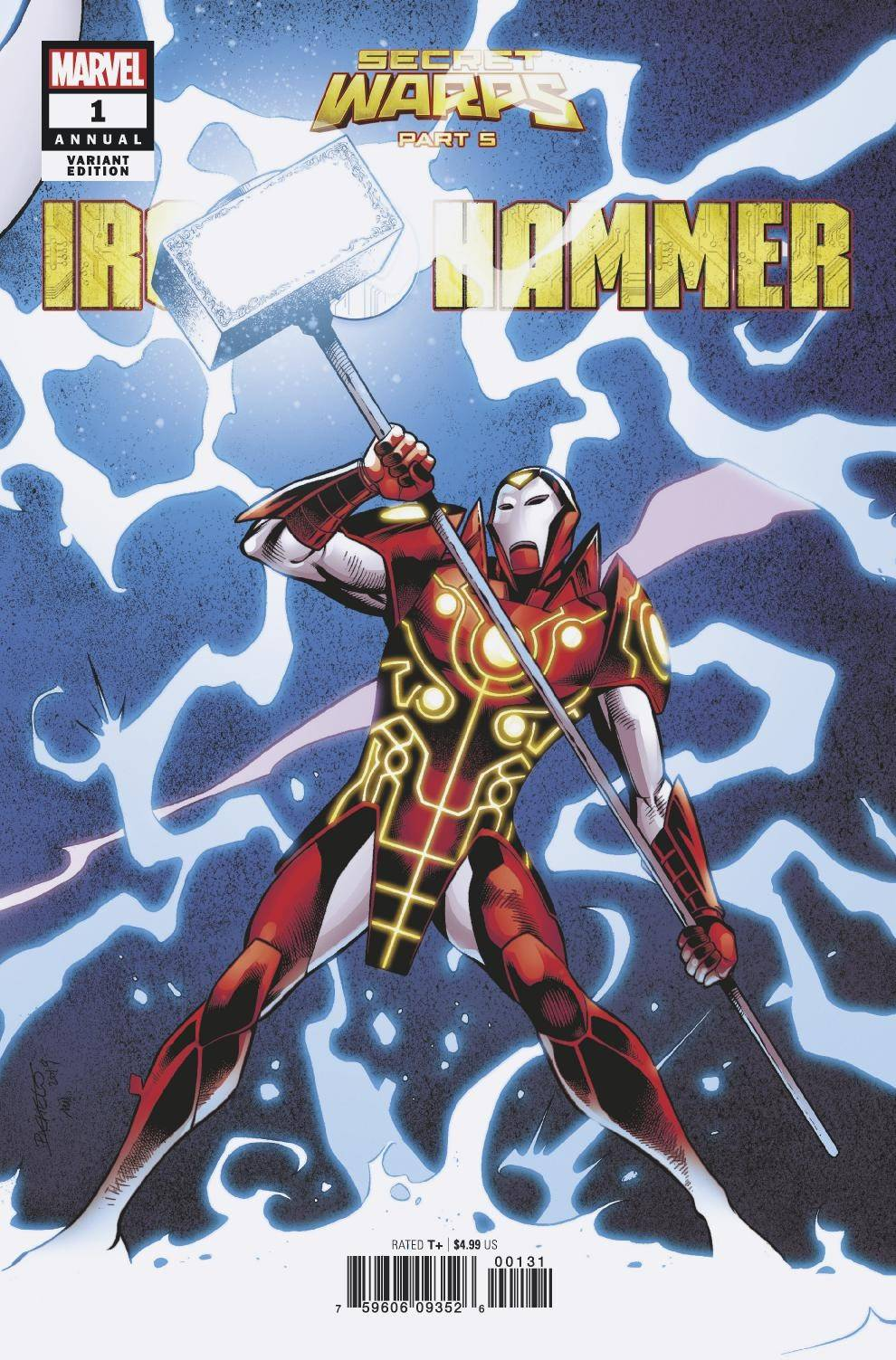 SECRET WARPS IRON HAMMER ANNUAL #1 PACHECO CONNECTING VARIANT 07/31/19 FOC 07/08/19