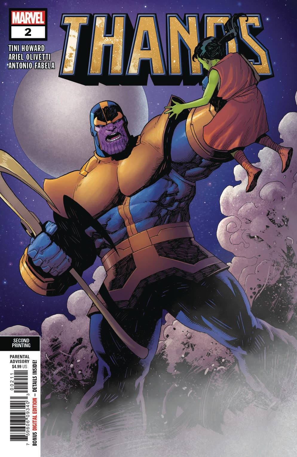 THANOS #2 (OF 6) 2ND PTG OLIVETTI VARIANT  07/03/19 FOC 06/10/19