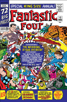 TRUE BELIEVERS FANTASTIC FOUR WEDDING REED AND SUE #1 FOC 06/11 RELEASE DATE 07/04
