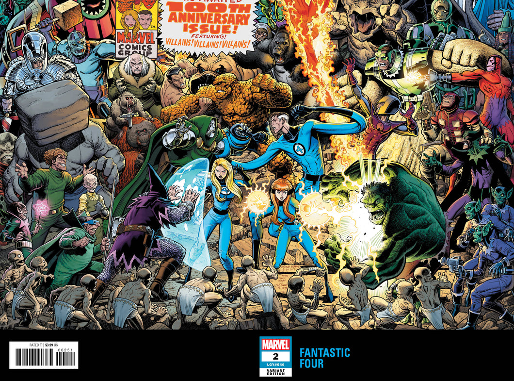 FANTASTIC FOUR #2 ADAMS CONNECTING WRAPAROUND VAR FOC 08/20/18