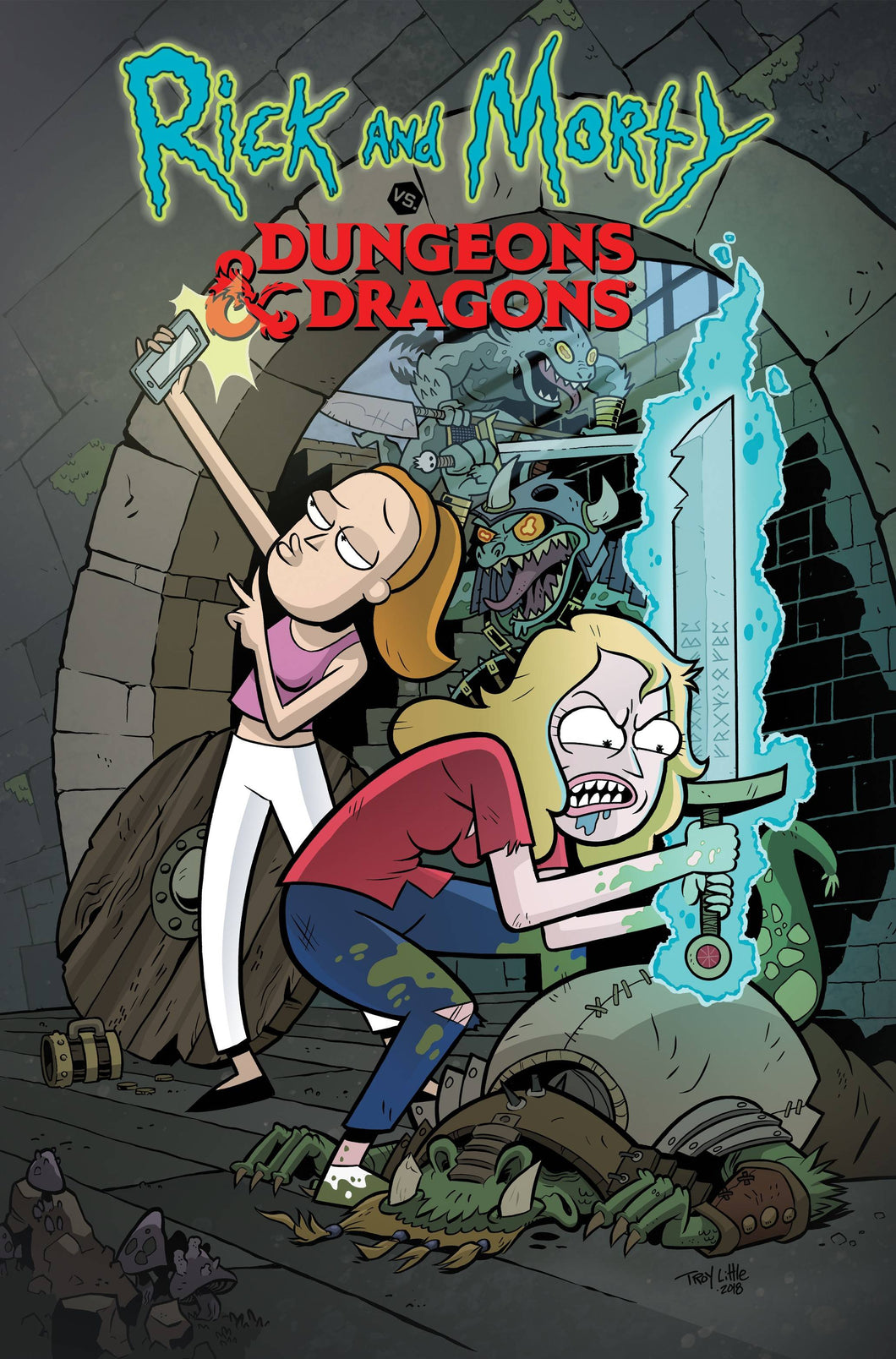 RICK & MORTY VS DUNGEONS & DRAGONS #2 (OF 4) CVR A LITTLE  FOC 09/03
