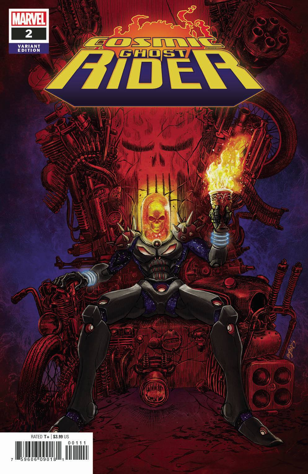 COSMIC GHOST RIDER #2 (OF 5) SUPERLOG VAR FOC 07/09