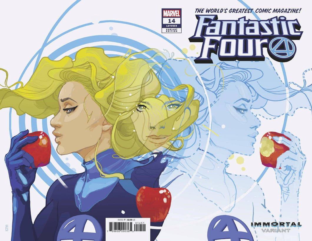 FANTASTIC FOUR #14 WARD INVISIBLE WOMAN IMMORTAL WRAPAROUND VARIANT 09/04/19 FOC 08/12/19