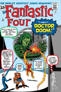 TRUE BELIEVERS FANTASTIC FOUR VS DOCTOR DOOM #1 FOC 06/18